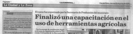 Guiñazu a La Capital 20/6/2008